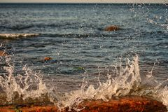 A sunny day in the Baltic Sea Royalty Free Stock Photography