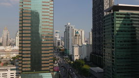 Sunny day bangkok city roof top traffic street view 4k time lapse thailand. Thailand sunny day bangkok city roof top traffic street view 4k time lapse stock footage