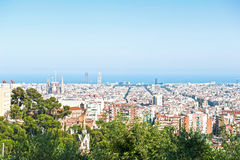 Sunny day in Barcelona Stock Images