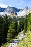 Sunny day in Bavarian Alps Royalty Free Stock Images