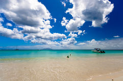 Sunny day on beach. Sunny day in paradise with wonderful sky Royalty Free Stock Images