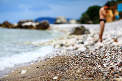 Sunny day on beach Royalty Free Stock Photo