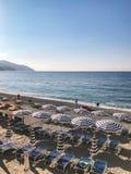 beach in Monterosso al Mare, Italy royalty free stock photo