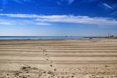 Sunny day on the beach in Santa Pola, Alicante stock photos