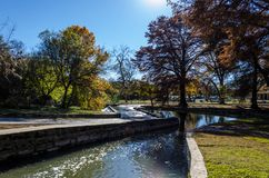Sunny day at Brackenridge park. River in San Antonio, Texas Stock Photos