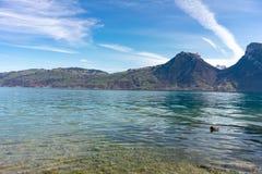 Sunny Day brilhante em Suíça de Interlaken fotos de stock