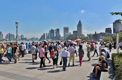 A sunny day on the Bund Stock Images