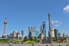 A sunny day on the Bund Stock Image