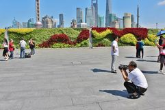 A sunny day on the Bund Royalty Free Stock Images