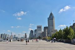 A sunny day on the Bund Stock Photography