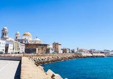 Sunny day in Cadiz - Spain Royalty Free Stock Photos