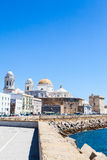 Sunny day in Cadiz - Spain Royalty Free Stock Photo