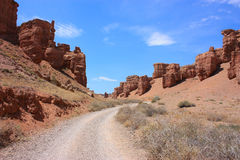 Sunny day in canyon Royalty Free Stock Images