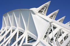 Sunny day in city of arts and sciences in valencia royalty free stock image