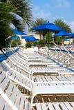 Sunny day at coastal vacation spot Royalty Free Stock Image