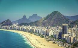 Sunny day on Copacabana Beach  in Rio de Janeiro Royalty Free Stock Photography