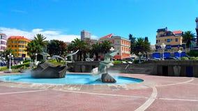 Sunny day in A Coruña city, Spain royalty free stock photos