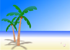 Sunny day on a desert island Royalty Free Stock Photo