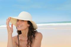 Sunny day on deserted beach Stock Photos