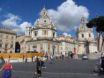 Sunny Day in Downtown Rome Stock Photo