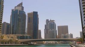 Sunny day dubai city marina gulf panorama 4k uae. Uae sunny day dubai city marina gulf panorama 4k stock video