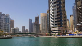 Sunny day dubai marina gulf view 4k uae. Uae sunny day dubai marina gulf view 4k stock footage