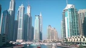 Sunny day dubai marina 4k time lapse Royalty Free Stock Images