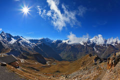 Sunny day in early autumn Austrian Alps Royalty Free Stock Image