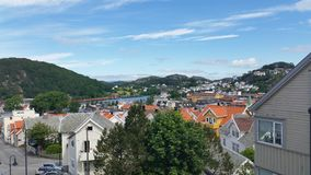 A sunny day in Egersund. Beautiful afternoons weather in Egersund, Norway Stock Photos