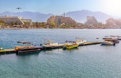 Sunny day in Eilat - famous resort city in Israel Stock Photo