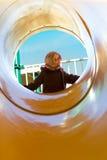 Sunny Day en el otro lado de la diapositiva del tubo Fotografía de archivo libre de regalías