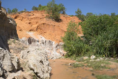 Sunny day at the Fairy Creek. Vietnam Stock Images