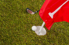 Sunny day on golf field Royalty Free Stock Photography