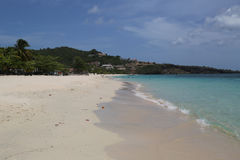 Sunny day at Grand Anse Beach in Grenada. Royalty Free Stock Photography