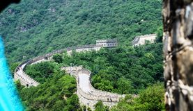 Sunny day at the great wall of China. The Great Wall of China is a series of fortifications made of stone, brick, tamped earth, wood, and other materials Royalty Free Stock Photos