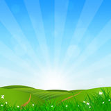 Sunny Day Green Hills Stock Photography