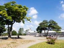 Sunny day on the grounds of historic Kanazawa castle Stock Photo
