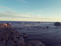 A sunny day at the gulf of Finland stock photography