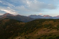 Sunny day high in mountains. Sunny day high in Tatra Mountains (Tatry), Zakopane, Poland stock photos