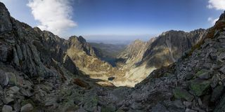 Sunny day high in mountains. Sunny day high in Tatra Mountains (Tatry), Zakopane, Poland stock photo
