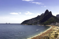Sunny day on Ipanema Beach Royalty Free Stock Image