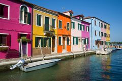 A sunny day on the island of Burano. Venice Stock Photography