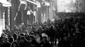 Sunny Day in Istanbul, Istiklal Street Stock Images