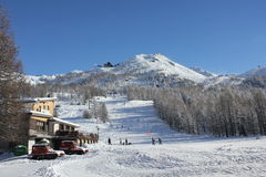 Sunny day in Italy Winter season Royalty Free Stock Photo