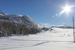 Sunny day in Italy Winter season Stock Image