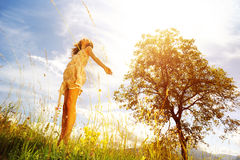 Sunny day and joy of living Royalty Free Stock Photos