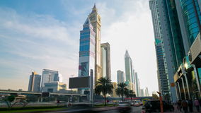 Sunny day 4k time lapse from dubai main road Stock Photo
