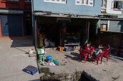 Sunny Day in Kathmandu. Children enjoying the sun in Kathmandu, Nepal Royalty Free Stock Photography