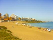 Sunny Day in La Mansa Beach Punta del Este Stock Photo