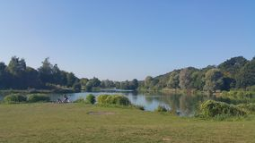 Sunny day in The Lake in Louvain La Neuve Royalty Free Stock Photography